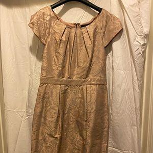 BCBG Maxazaria Rose Gold Dress with pockets